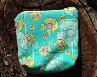 Coin and phone purse, fabric bag, handmade