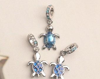 Little Sweet Sea Turtle Charms Swirl Design Beach Charms Boho Jewelry Supplies 16x12mm
