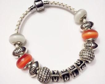 Tennessee Vols charm bracelet