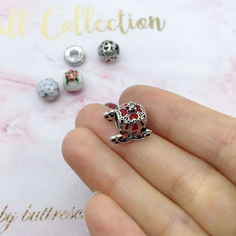 Our favorite pick A White Christmas charm set variety red white Christmas theme charm set for bracelet making