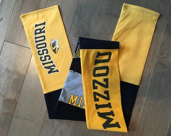 University of Missouri Tigers Upcycled T-Shirt Scarf