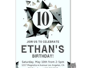 10th birthday invitation boy printable 10th birthday 10th birthday invitation boy rock climbing birthday invitation skate park invitation boys 10th birthday invite 11th 12th 13th birthday filmwisefo