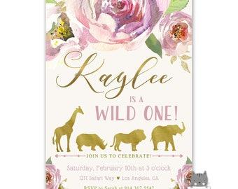 safari two wild birthday invitations girl 2nd birthday etsy