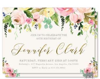 birthday invitations for women 50th 60th 70th birthday etsy