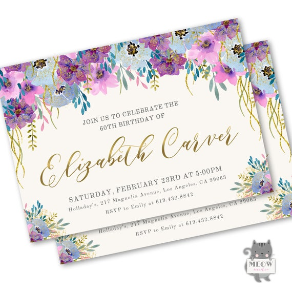 80th Birthday Invitations For Women Invites