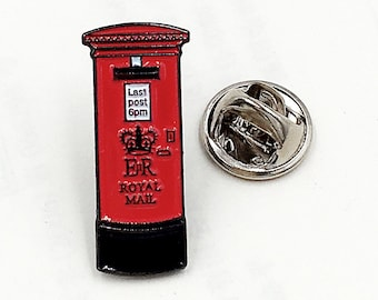 lapel badge Postman gift Traditional Royal Mail Red Post Box enamel pin