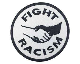 Fight Racism Equality rights Apparel Ant-nazi Peace Hat patches Embroidered Iron on sew on patches