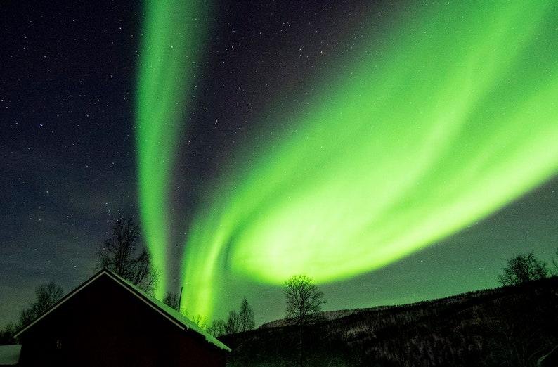 HIGH-RES Northern Lights 3 Aurora Borealis starry night sky natural wanderlust gift Digital Download