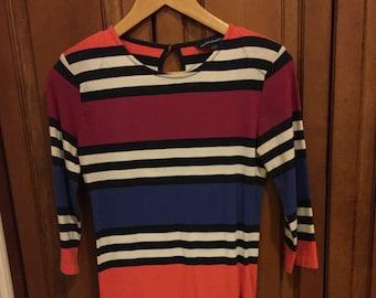 VTG French Connection UK Striped Color Block Mini Dress