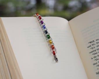 Rainbow Chainmail bracelet