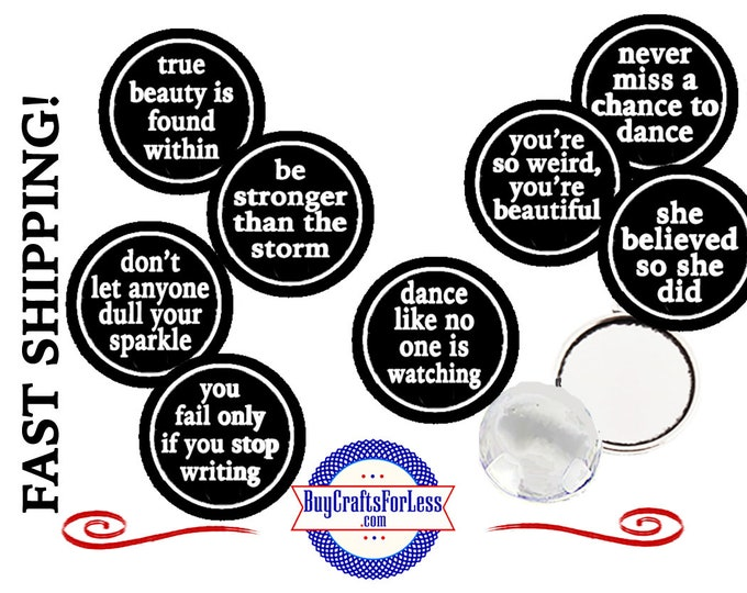 AFFIRMATIONs CABOCHONs, BRACELETs, EARRINGs, MAGNETs, Pendant, SLiDER-Many Phrases, OUR Designs, CUSTOMiZABLE +FREE Shipping & Discounts