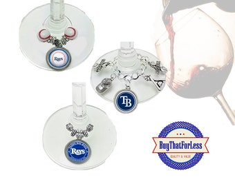 TAMPA Wine or Bottle Charms, Napkin Rings, Set of 6, U Choose Style +FREE SHiPPING  Discounts