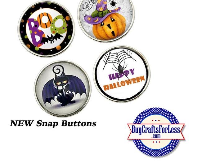 SNaP HALLOWEEN Buttons, 18mm INTERCHaNGABLE Buttons, 4 NeW designs +FREE Shipping & Discounts