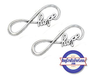 Hope Infinity Charm, 8, 16, 24 pcs +FREE SHiPPiNG & Discounts*