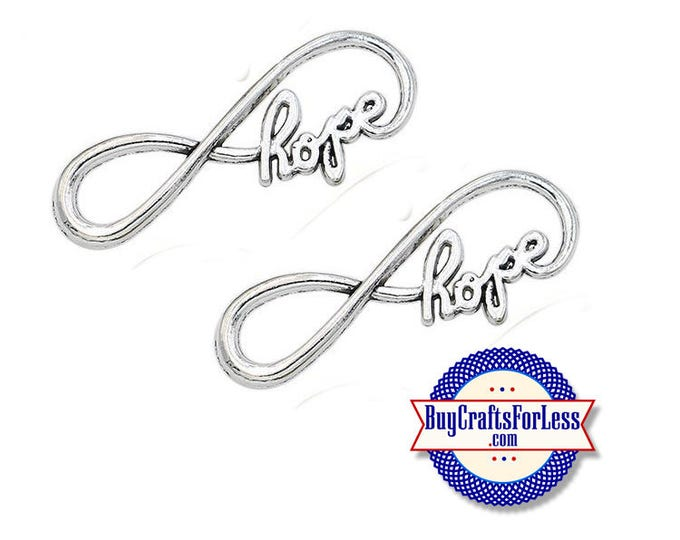 Hope Infinity Charm, 8, 16, 24 pcs +FREE SHiPPiNG & Discounts*