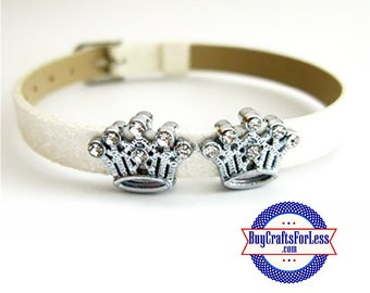 Rhinestone CROWN for 8mm SLIDE Bracelets, Key Rings, Collars, Napkin Rings +FREE Shipping & Discounts*
