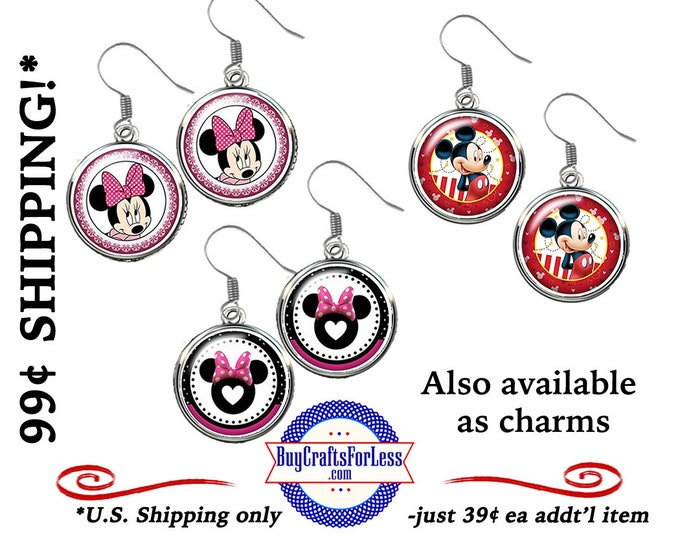 MOUSe EARRINGs, 3 DESIGNs, VERY CuTE! GREAT GiFT For You!  +99cent