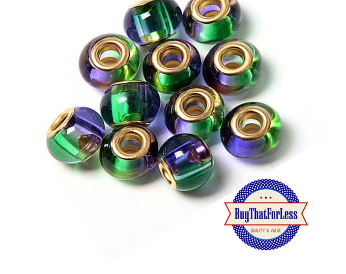 GLASS BEADs, GREENs, BLUEs Lustre , 6, 12, 24 pcs +FREE SHiPPing & Discounts*