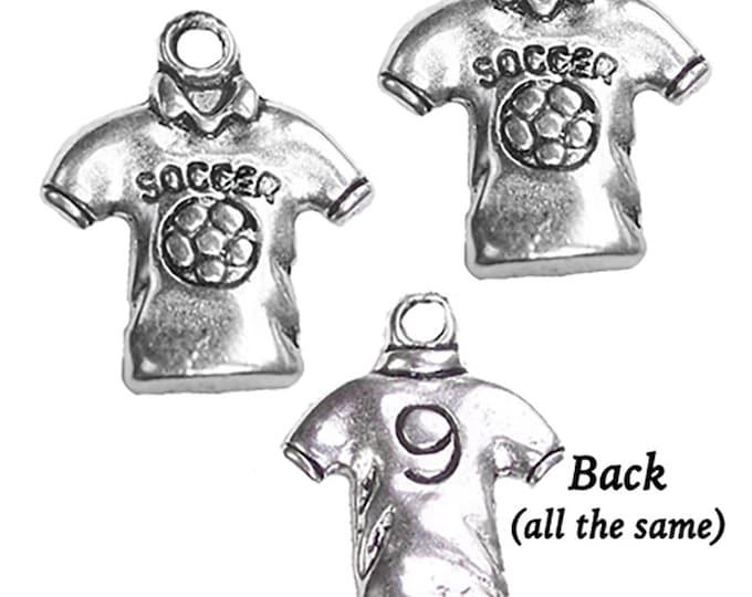 Soccer Shirt Charms, 4 pcs  **FREE U.S. SHIPPING**
