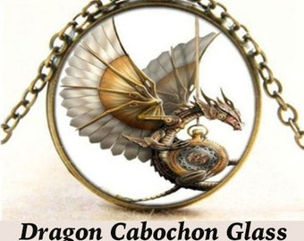 Steampunk PENDANT Cabochon, Dragon  ** CLEARANCE **