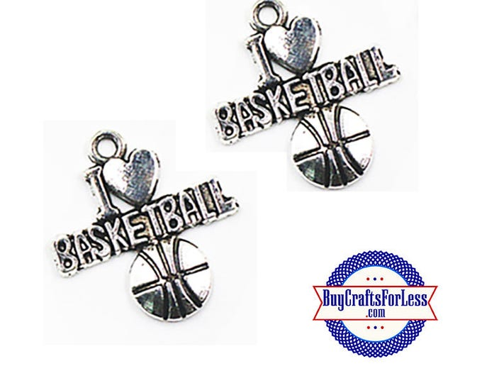Basketball Charms, Love Basketball, 4 pcs  +Discounts & FREE Shipping*