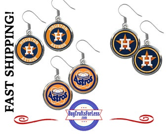 HOUSTON Baseball EARRINGS, CHooSE Design - Super CUTE!  +FReE SHiPPiNG & Discounts*
