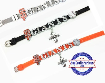 SAN FRANCISCO, 8mm Slider Bracelets, 3 colors, Celebrate the Giants  **FREE Shipping**