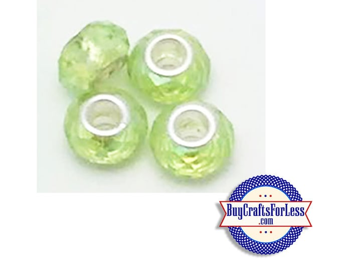 CLEARANCE Acrylic BEADs, Lt GREEN, Multi-Faceted, 12 pcs  +FREE Shipping & Discounts*