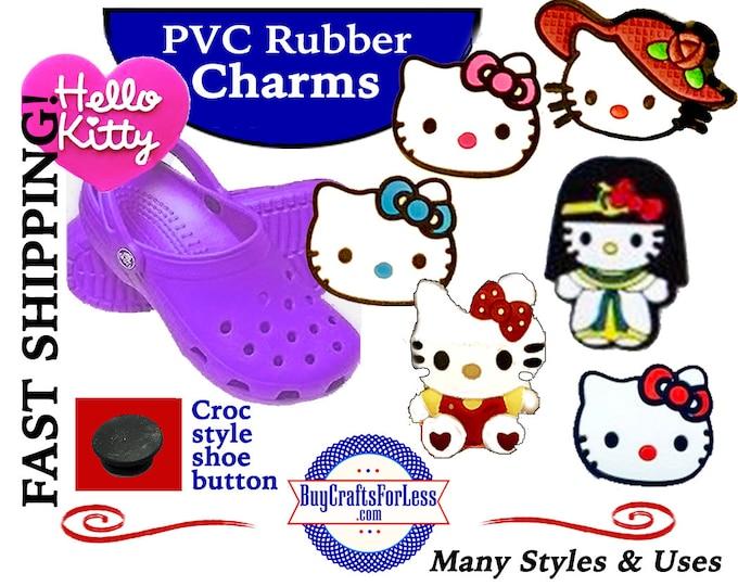SeT of 7, PVC Charms, KITTiES, 7 Design, Full SET + FREE SHiPPING