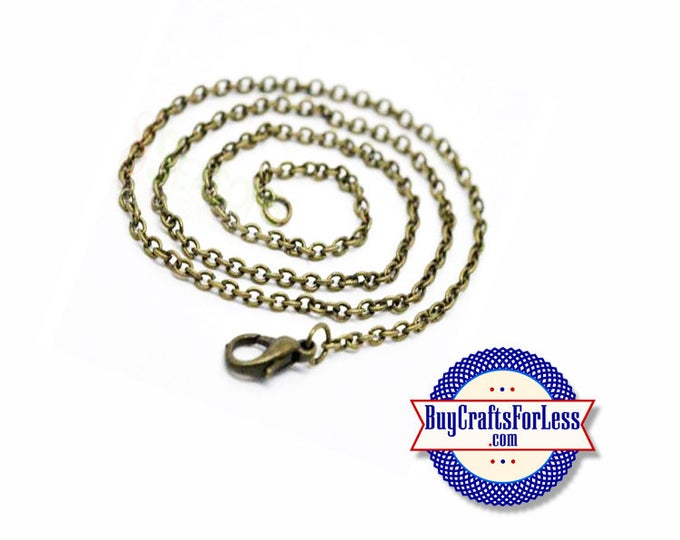 "CHAIN, 18"", Bronze Finish, Link Style +FREE SHIPPING & Discounts*"