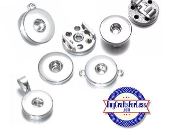 SNAP Interchangeable 18mm Bases and Findings for SNAP Button bracelets, earrings, pendants, key rings  +FREE Shipping & Discounts
