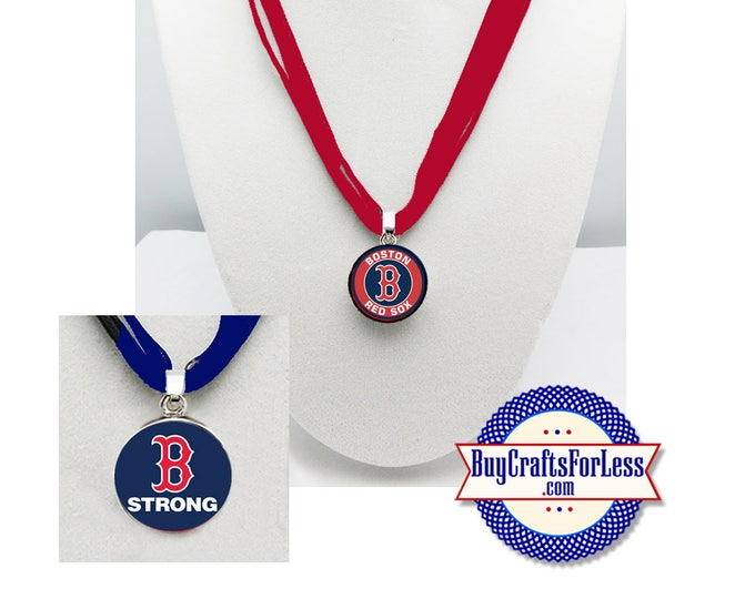 RED SOX Baseball PENDaNT or SNaP BUTToN Only, CHooSE Design and Ribbon Cord - Super CUTE!  +99cent Shipping