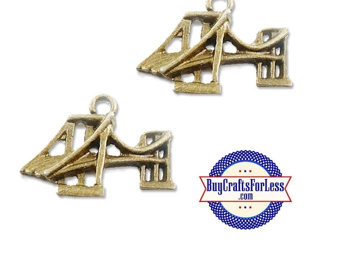 BRiDGE, *CLEARANCE* SF Bridge, NY Bridge Charms, Bronze, 8, 12, 24 pcs +FReE ShiPPing & Discounts*