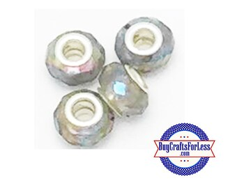 CLEARANCE - Acrylic BEADs, SMOKE, 12 pcs  +FREE Shipping & Discounts*
