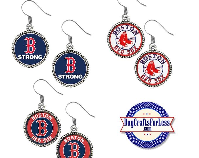 RED SOX Baseball EARRiNGS, CHooSE Design - Super CUTE!  +FReE SHiPPiNG & Discounts*