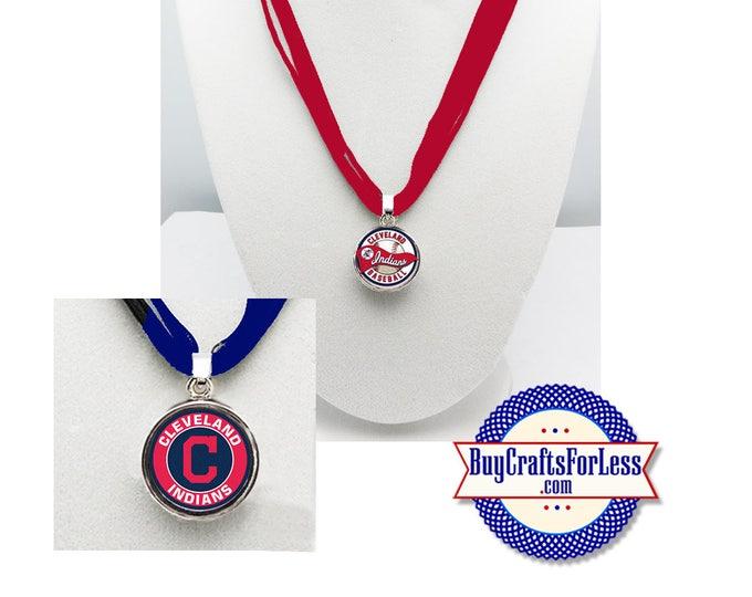 CLEVELAND Baseball PENDaNT, CHooSE Design and Ribbon Cord - Super CUTE!  +FREE SHiPPiNG & Discounts*