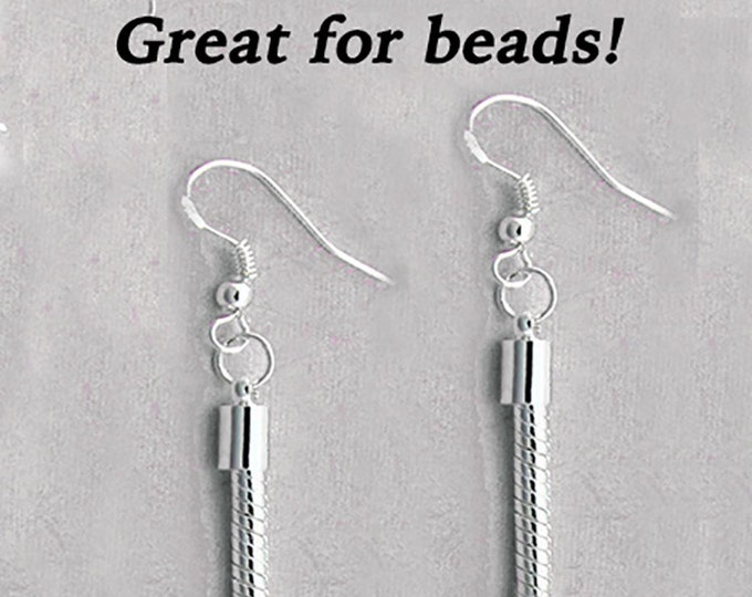 EARRINGS -Snake Style Silver Plated Earrings, 3 SiZES  +FREE SHIPPING & Discounts*