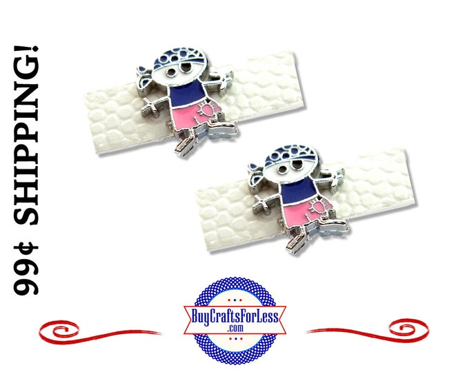 PIRATE, Super CUTE PIRATE Slider for 8mm Hair Clips, Bracelets, Collars, Key Rings. Napkin Rings +99cent Shipping