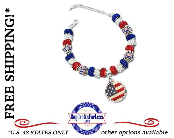 "USA ""OLD GLoRY"" Bracelet **FREE Shipping + Discounts**"