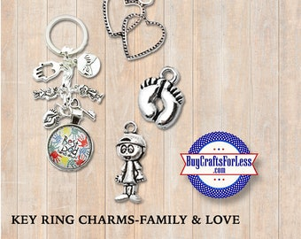 CHARMS for Key Rings - FaTHER'S Day, Dad's Day, GiFT for him +Discounts & Free Shipping*
