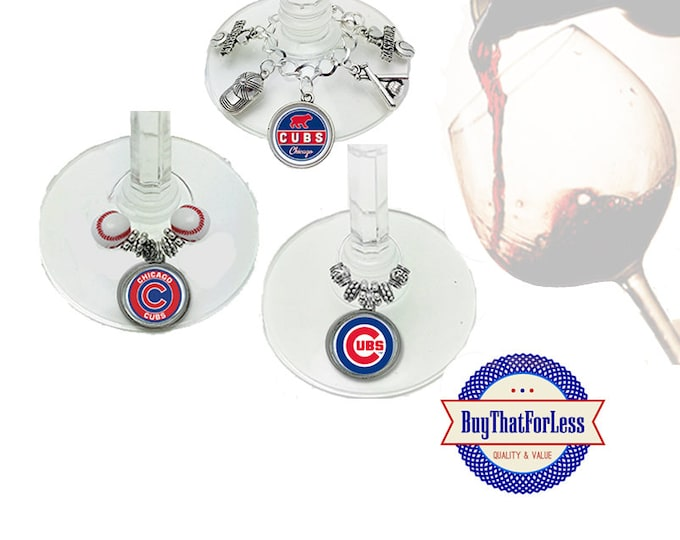 CHICAGO Wine or Bottle Charms, Napkin Rings, Set of 6, U Choose Style   +FREE SHiPPiNG & Discounts*