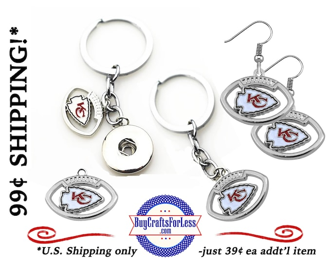 FREE CHaRM with EARRINGs or KEYRING, Football GiFT CHaRM, Great Football GiFT +99cent SHiPPiNG - 39cents ea addf'l item