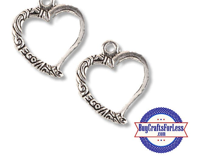 Open HEART PRETTY Charm Design 2 pcs  +FREE SHiPPiNG & DiSCOUNTS*