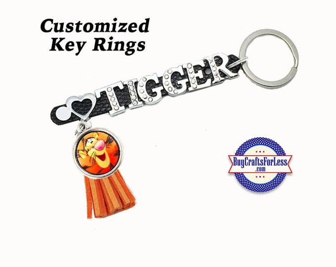 CUSTOMIZE 8mm Key Ring, PERSONALIZE For you -4 Colors, 8 Different Tassels from BuyCraftsForLess +FREE Shipping & Discounts*