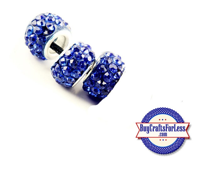 Glittery GLASS BEADs, BLUE, 6, 12 or 24 pcs +FREE Shipping & Discounts*