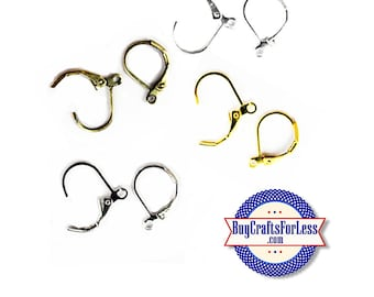 Earring HOOKs, 4 finishes, 3 PAIR per package +FREE Shipping & Discounts*