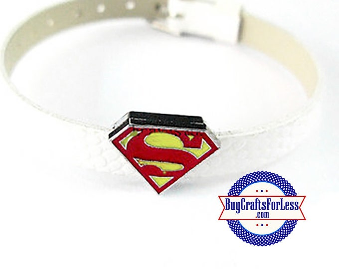 SUPERMAN Charms for 8mm Bracelets, Collars or Key Rings +FREE Shipping & Discounts*
