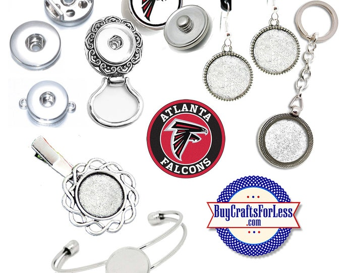 ATLaNTA CHARMs, SNAPs - CHooSE Logo, Choose Charm or, Snap Base  +FREE SHiPPiNG & Discounts*