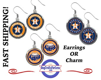 HOUSTON Baseball EARRINGs OR CHARMs, CHooSE Design - Super CuTE!  +99cent US SHiPPiNG