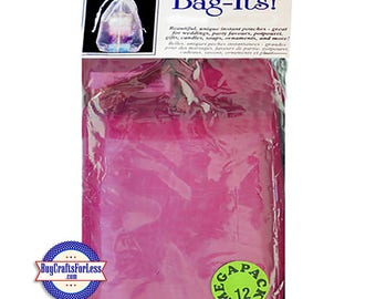 "Sheer Organza PARTY and JEWELRY Bag-its, 12 pcs 4 1/2""x 7"", Rose burgundy +FREE SHiPPiNG & Discounts*"